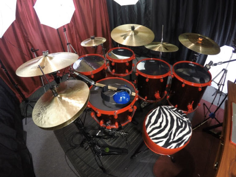 Mapex and Zildjians